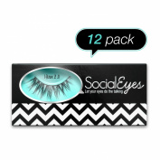 SocialEyes Minx 2.0 Lashes Handmade Fake False Eyelashes Eye Lashes 12 Packs