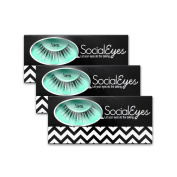 SocialEyes Siren Lashes Multi Layered Fake False Eyelashes Eye Lashes 3 Packs