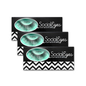SocialEyes Temptress Lashes Natural Thick False Eyelashes Eye Lashes 3 Packs
