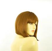 Short Wig Woman Blond Smooth Copper Ref BRENDA 27