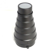 DynaSun A186 Professional Flash Light Snoot Flashpoint with Honeycomb Grid and 4x Filters, fit for Monolight Flash Bowens Speeding Mount S-Type