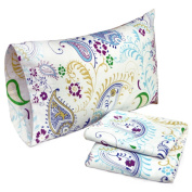 Tribeca Living Paisley Garden Printed Flannel Pillowcases
