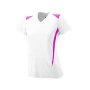 Girls Premier Crew - 1056 - White/Power Pink - M