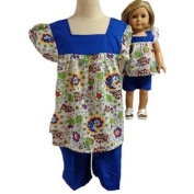 Matching Girls And Doll Clothes Colourful Shorts Size 10