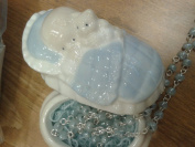 Rosary in Porcelain Keepsake Box for Baby Boy Blue by Roman