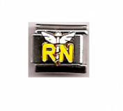 Registered Nurse - RN Enamel 9mm Italian charm - fits Zoppini, Boxing, and Nomination style Italian charm bracelets