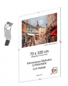 "Set of 10 pcs. CLIP FRAMES - 21x297cm (A4) (ca. 8x12"") with styrene glass"