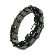 EQLEF® 2 Pcs Men's/Women's Hematite Metal Magnetic Therapy Bracelets