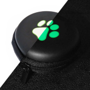 LOVE MY CASE / Glow In The Dark Green PAW PRINT MP3 Player Case, cover, shell - Clamshell Style with Zip Enclosure For Apple iPod nano 6th Generation