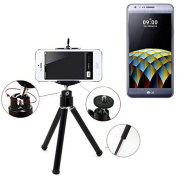 Smartphone Tripod / mobile stand / tripod as for LG Electronics X cam. Tripod / Tripod aluminium with mobile phone holder, universal for all common smartphones and cameras. Colour