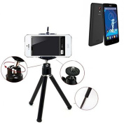 Smartphone Tripod / mobile stand / tripod as for Haier Phone L52. Tripod / Tripod aluminium with mobile phone holder, universal for all common smartphones and cameras. Colour