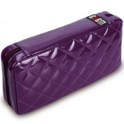 64 Capacity Pu Leather Cover CD / DVD Wallet, Various Colours - Purple Colour