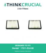 2 Honda 17211-ZL8-023, 17211-ZL8-000,17211-ZL8-003, Stens 102-713, Napa 7-08383 Air Filter, Designed & Engineered by Think Cruci