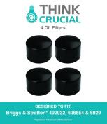4 Briggs & Stratton 492932 Oil Filters, Fits Oregon 83-013, John Deere LG492932S & Kohler 25-050-01 28-050-01