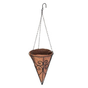 88669 Scroll Cone Basket with Coco Liner