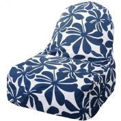 Majestic Home Goods Kick-It Chair, Plantation, Navy Blue