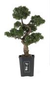 Nearly Natural 4100 Cedar Bonsai Decorative Silk Plant, 90cm , Green