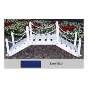 Decorative Garden Bridge with Posts and Chain - Finish