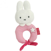 Miffy Plush Baby Rattle Pink 0+