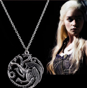 Game of Thrones Dragon Chain Necklace 56cm - A Song of Ice and Fire Targaryen Daenerys