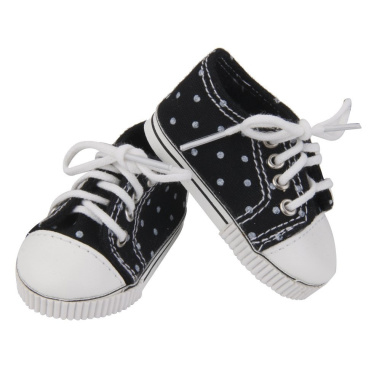 Fashion Black Sneakers Shoes for American Girl Doll