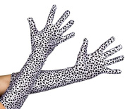 DALMATIAN PRINT GLOVES PERFECT FOR ADULT LADIES SCHOOL BOOK WEEK & WORLD BOOK DAY CHARACTER FANCY DRESS COSTUME ACCESSORY