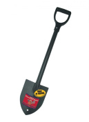92712 14-Gauge Round Point Trunk Shovel with Steel D-Grip Handle