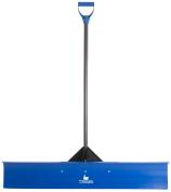 The Snowcaster 48UPH Pusher Shovel with 120cm Heavy Duty Plastic Blade, Blue