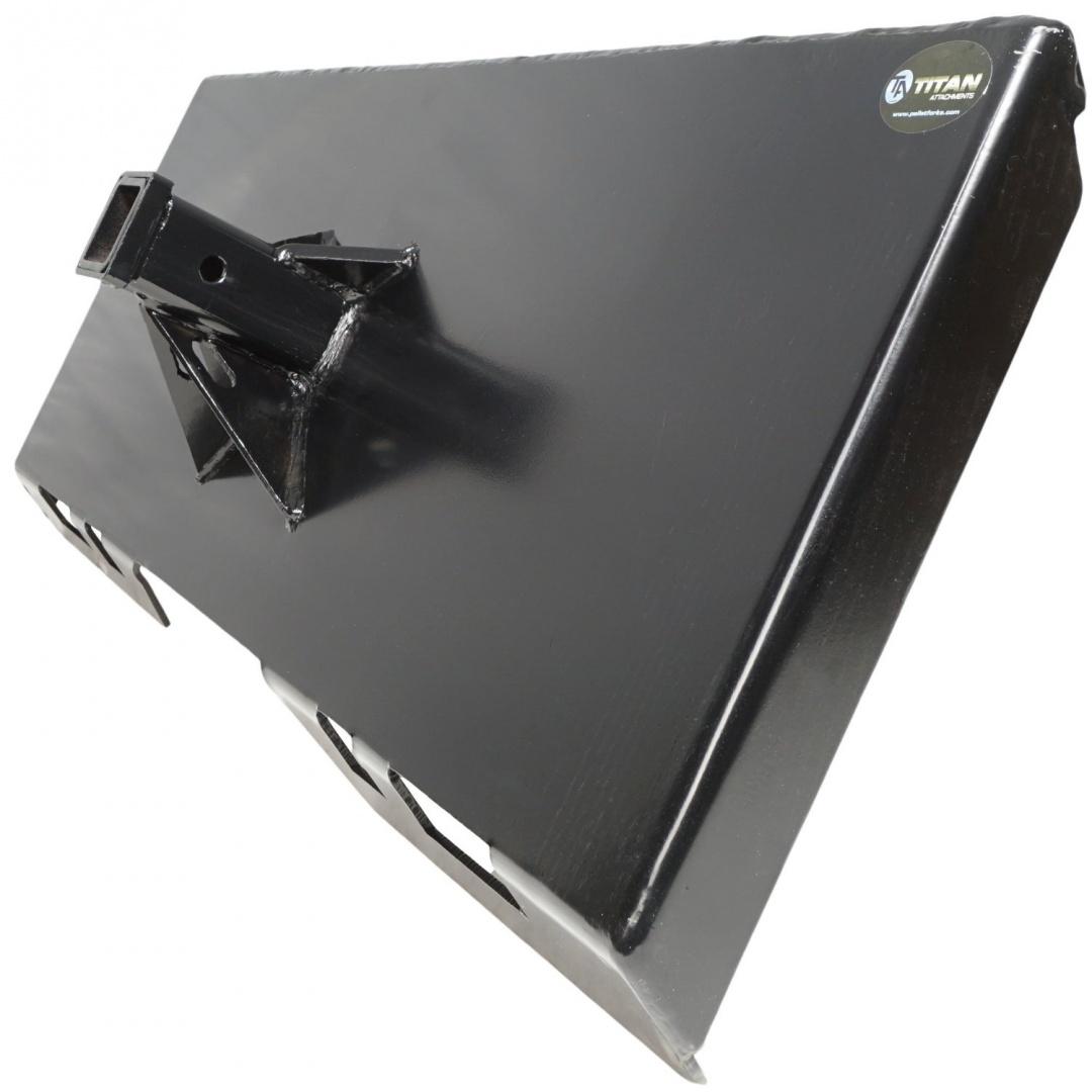 Titan Skidsteer Trailer Receiver Mount Plate Hitch Bobcat Case Skid Steer  REC-MP