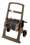Suncast SHA150B 46m Capacity Garden Hose Hosemobile Reel Cart, Mocha/Taupe