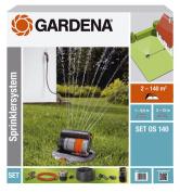 GARDENA OS 140 Complete Set with Pop-Up Oscillating Sprinkler