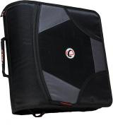Case-it King Sized Zip Tab 10cm D-Ring Zipper Binder with 5-Tab File Folder, Black, D-186-BLK