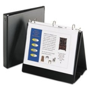 Easel Binder With Round Ring Vinyl Black By