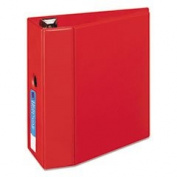 Heavy-Duty Binder With One Touch Ezd Rings 13cm Capacity Red By