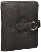 "Leather ""Ava"" Binder Compact - Charcoal"