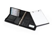 Executive Leather iPad mini 3 / iPad mini 2 / iPad mini 3-Ring Binder Portfolio with Removable Paper Panel, Black