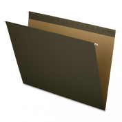 Pendaflex X-ray Size Reinforced Hanging File Folders, 14x18, No Tab, Green, 25 Per Box,