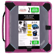 Five Star Zipper Binder with Expansion Panel, 3 Ring Binder, 5.1cm , Purple