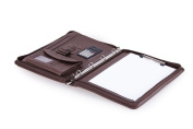 Compact Organiser Folio with 4-Ring Binder and Letter A4 Paper XZ-1076-4R-Coffee