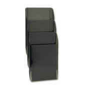 Rubbermaid 18803 Image hot file wall mount 3-pocket mag.-size starter set, smoke, 3/set