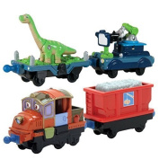 Chuggington StackTrack Duo Value Pack Die Cast Toy Train Set Includes Dinosaur & Camera and Hodge & Hopper Cars