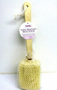 41cm EXFOLIATING LOOFAH BRUSH WITH WOODEN HANDLE