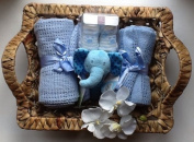 Deluxe Blue Newborn Baby Boy Hamper - free. Message Option