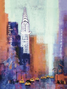 Colin Ruffell 60 x 80 cm Manhattan Chrysler Building Canvas