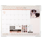 AT-A-GLANCE 22x17 Visual Organiser Recycled Puppies Desk Pad