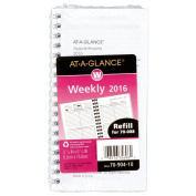 AT-A-GLANCE Weekly Appointment Book / Planner Refill 2016 for 70-008, 12 Months, 8.3cm x 16cm Page Size