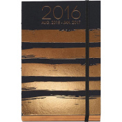 Rose Gold Stripes Hardcover Weekly Planner by Waste Not Paper/Paper Source