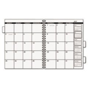 Three/five-Year Monthly Planner Refill 9 X 11 White 2018 By