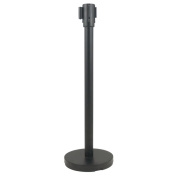 RS-36BK Black Stanchion with Pole and Base