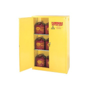 Eagle 170.3l Yellow Two Shelf With Two Door Self-Closing Flammable Safety Storage Cabinet
